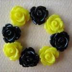 8PCS - Mini Rose Flower Cabochons -..