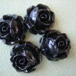 4PCS - Cabbage Rose Flower Cabochon..